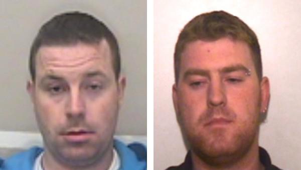 Hai nghi phạm Ronan (phải) và Christopher Hughes. Ảnh:Essex Police.