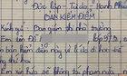 Bản kiá»m Äiá»m của nữ sinh lá»p 9 khiến giáo viên cạn lá»i