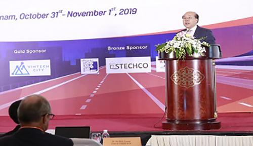 Ông Nguyễn Văn Công, Thứ trưởng Bộ Giao thông Vận Tải phát biểu tại sự kiện