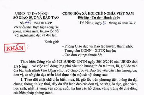 Văn bản nhái của Sở Giáo dục Quảng Ngãi.