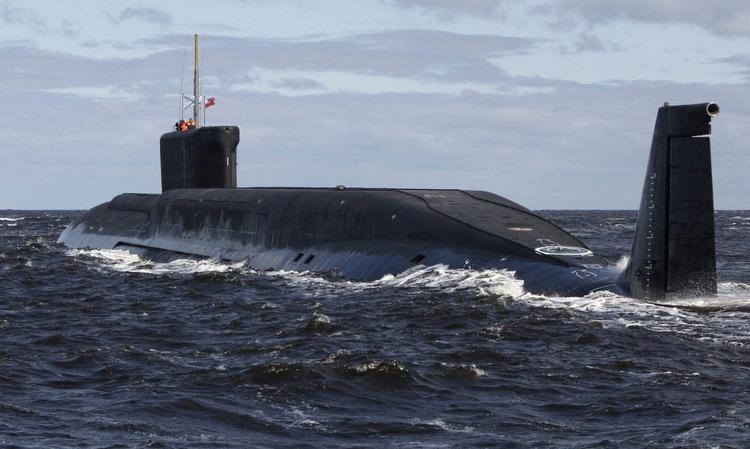 Tàu ngầm Yuri Dolgoruky của Nga trong một cuộc diễn tập năm 2018. Ảnh: Bộ Quốc phòng Nga.