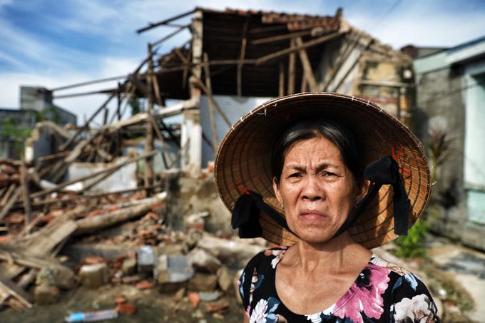 'Rốn lũ' Bình Định sau bão