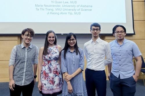 Trang cùng các thành viên trong nhóm nghiên cứu đề tài của Google. Ảnh: Nhân vật cung cấp