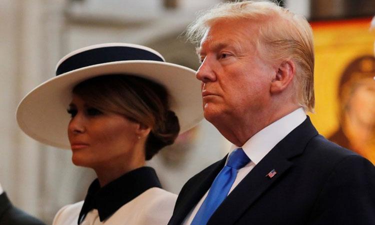 Tổng thống Trump và Đệ nhất phu nhân Melania tại London, Anh ngày 3/6. Ảnh: Reuters.