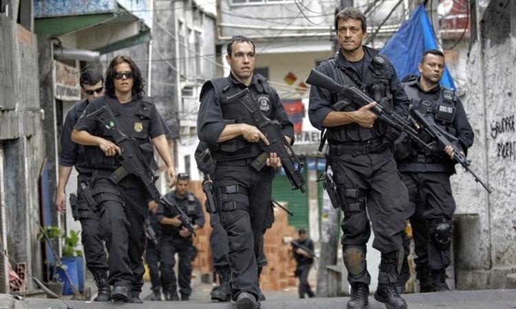 Cảnh sát Brazil thực hiện nhiệm vụ tuần tra. Ảnh: AP.