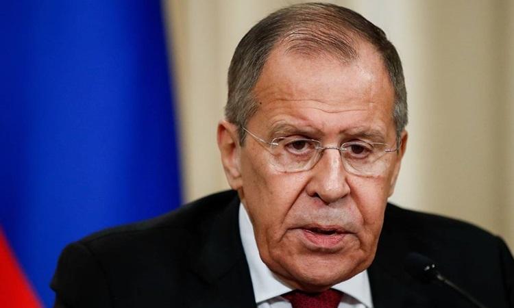 Ngoại trưởng Nga Sergey Lavrov nói với đài Rossiya 24 hôm 1/11. Ảnh: Tass.