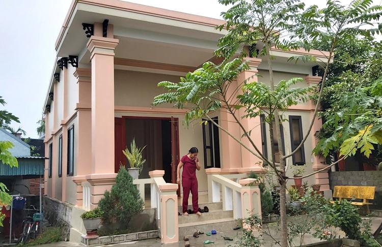 Ngôi nhà của anh Nguyễn Đình Tứ ở xã Đô Thành.Ảnh: Nguyễn Hải.