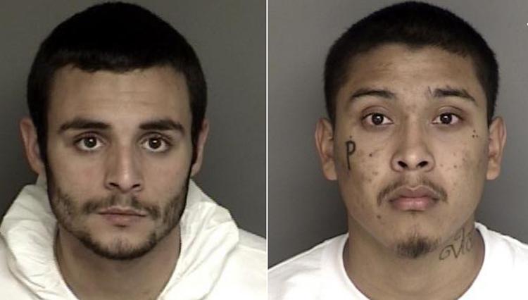 Santos Fonseca, trái, và Jonathan Salazar, hai nghi phạm đang bị truy nã. Ảnh: Monterey County Sheriff's Office