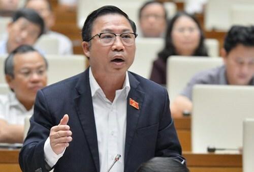 Đại biểu Lưu Bình Nhưỡng tại nghị trường. Ảnh: Trung tâm báo chí Quốc hội