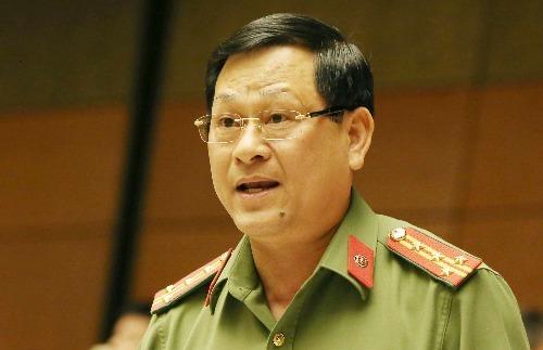 Đại tá Nguyễn Hữu Cầu, Giám đốc Công an tỉnh Nghệ An. Ảnh: Trung tâm báo chí Quốc hội
