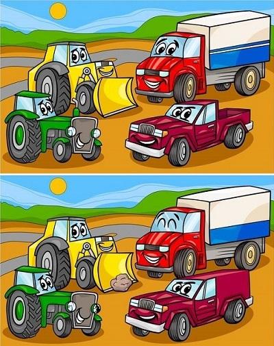 Tìm điểm khác biệt giữa những cặp tranh