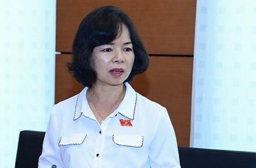 Đại biểu Phạm Thị Thu Trang. Ảnh: Trung tâm báo chí Quốc hội