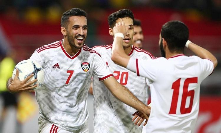 Ali Mabkhout vắng mặt ở trận gặp Việt Namlà tổn thất lớn cho UAE. Ảnh: EPA.