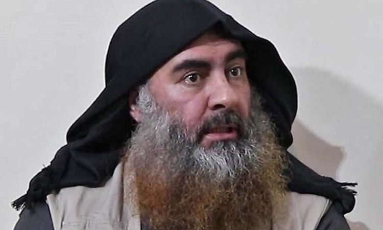 Abu Bakr al-Baghdaditrong video được công bố hồi tháng 4. Ảnh: Independent.