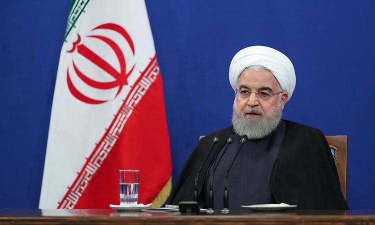 Tổng thống Iran Hassan Rouhani phát biểu trong cuộc họp báo ở Tehran hôm 14/10. Ảnh: Reuters.