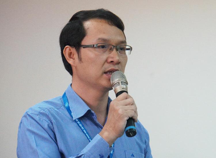 TS Trần Văn Thắng phát biểu tại hội thảo. Ảnh: Mạnh Tùng.