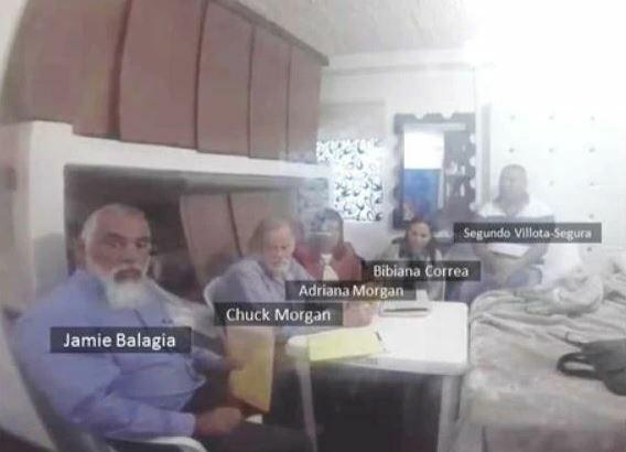 Jamie Balagia (trái) cùng đồng phạm trong một buổi gặp mặt với trùm ma túy. Ảnh: U.S. Attorneys Office.