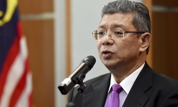 Ngoại trưởng Malaysia Saifuddin Abdullah. Ảnh: AP.