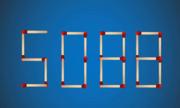 Di chuyển 2 que diêm nào để được số lớn nhất có 4 chữ số