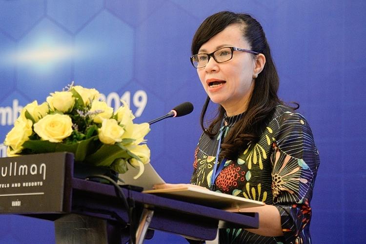 Bà Nguyễn Thị Kim Phụng tạiHội thảo quốc tế châu Á lần thứ 18 do Đại học Ngoại thương cùng các đơn vị phối hợp tổ chức. Ảnh: Đại học Ngoại thương