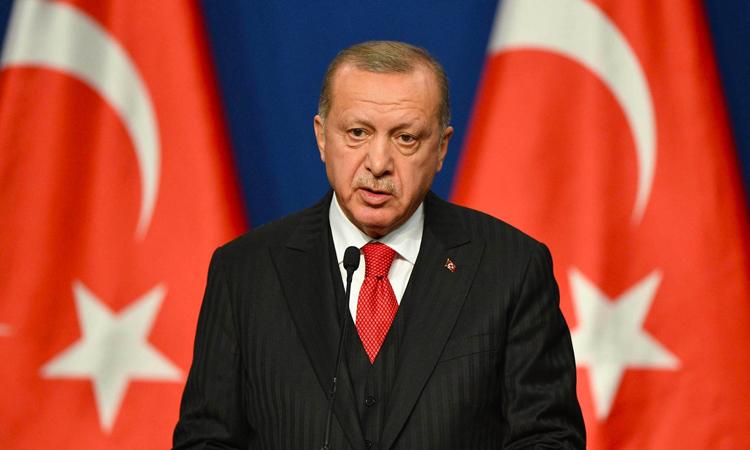 Tổng thống Thổ Nhĩ Kỳ Recep Tayyip Erdogan phát biểu tại Budapest, Hungary hôm 7/11. Ảnh: AFP.