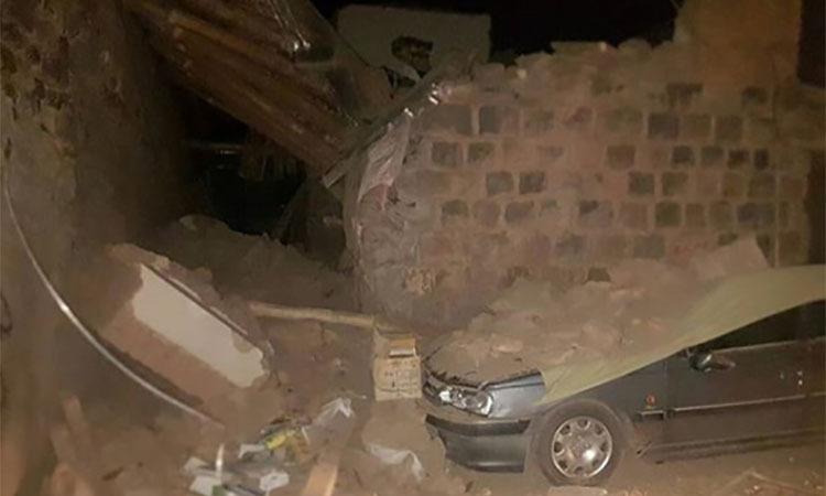 Một căn nhà bị sập trong trận động đất hôm nay ở tỉnh Đông Arzerbaijan, Iran. Ảnh: Instagram/sahandirib.