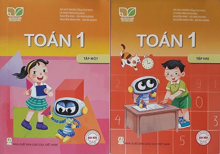Sách giáo khoa Toán lớp 1 được biên soạn theo chương trình mới. Ảnh: Thanh Hằng