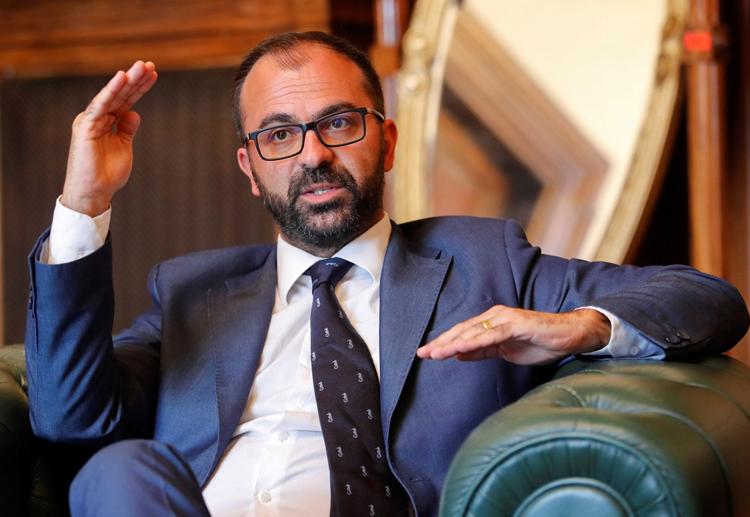 Bộ trưởng Giáo dụcItaly Lorenzo Fioramonti. Ảnh:Casilli/Reuters