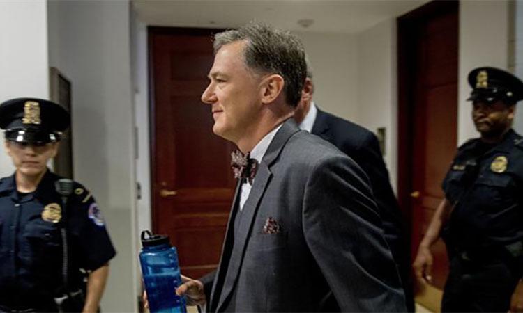 Phó trợ lý Ngoại trưởng Mỹ, phụ trách các vấn đề châu Âu và châu Á George Kent đến quốc hội Mỹ hôm 15/10. Ảnh: AP.