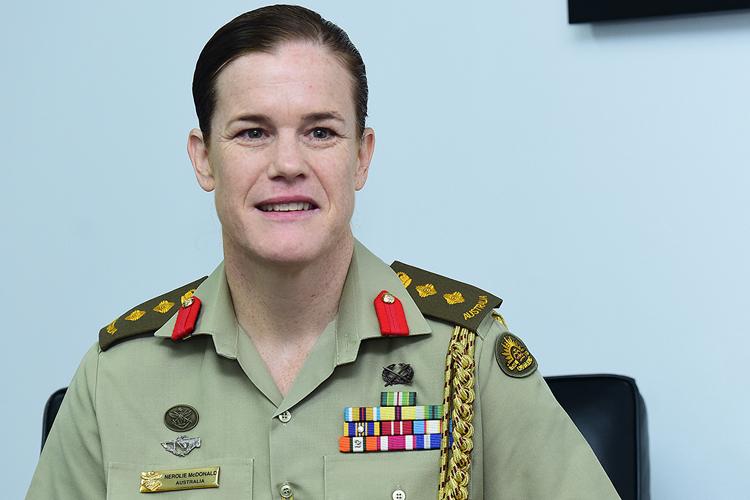 Tùy viên Quốc phòng Australia tại Việt Nam McDonald. Ảnh: Giang Huy.