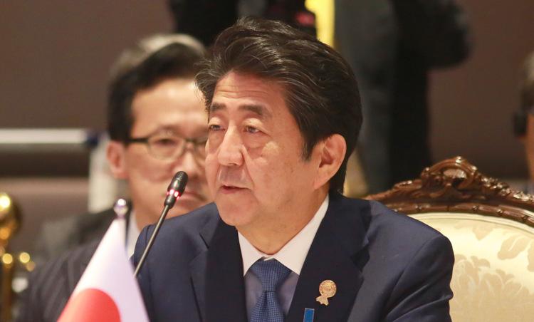 Thủ tướng Nhật tại Hội nghị ASEAN - Nhật Bản hôm 4/11. Ảnh: Asean2019.go.th.