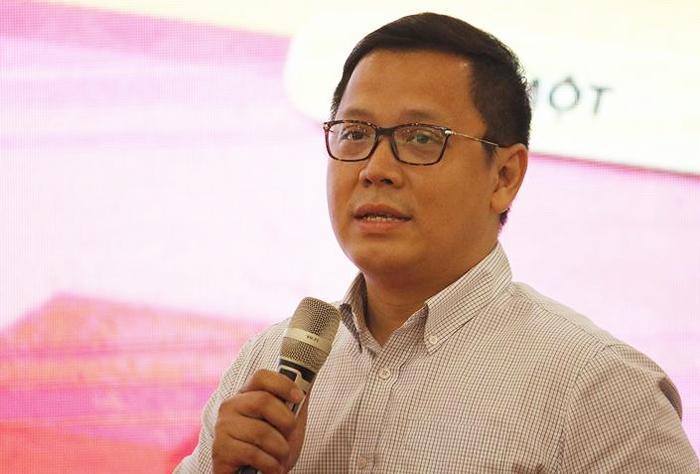 PGS Lê Anh Vinh tại hội thảo sáng 8/11. Ảnh: Thanh Hằng