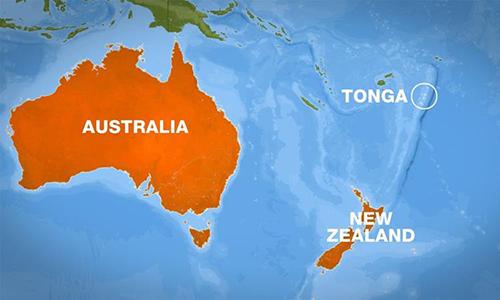 Vị trí quốc đảo Tonga. Ảnh: Al Jazeera.