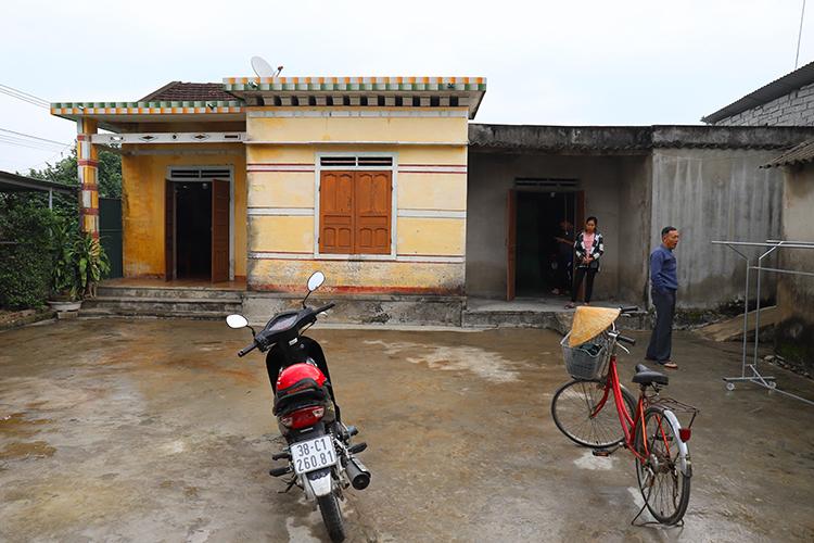 Căn nhà cấp bốn của gia đình anh Võ Văn Linh. Ảnh: Đức Hùng