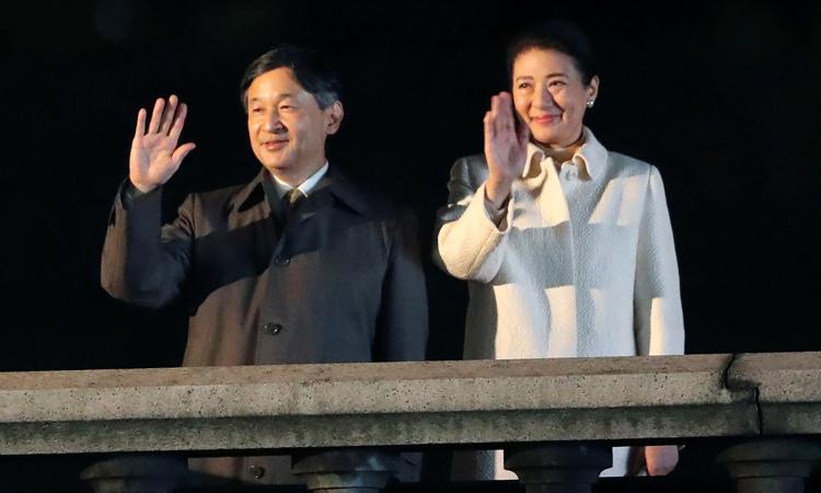 Nhật hoàng Naruhito và Hoàng hậu Masako trong lễ hội tạiHoàng cung ở thủ đô Tokyo, Nhật Bảnhôm nay. Ảnh: Reuters.