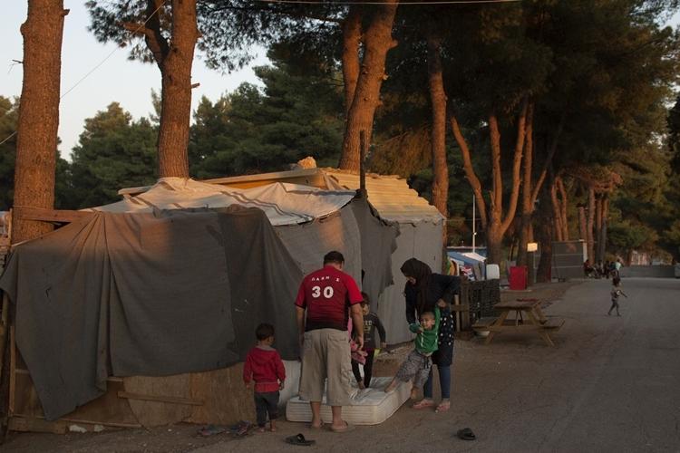 Trại cho người xin tị nạn ở phía bắc Athens. Ảnh: Washington Post.