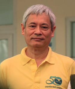 Ông Vũ Xuân Đoàn, học sinh khóa 1 trường THPT Chuyên Ngoại ngữ. Ảnh: D.T.