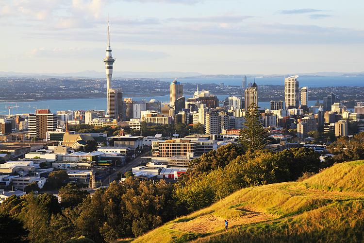 Thành phố Auckland nhìn từ núi Eden. Ảnh: Shutterstock
