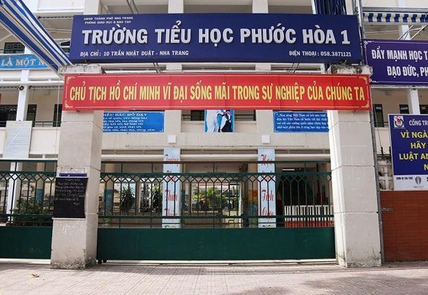 Trường tiểu học Phước Hòa 1 ở TP Nha Trang, Khánh Hòa sáng 9/11. Ảnh: Xuân Ngọc.