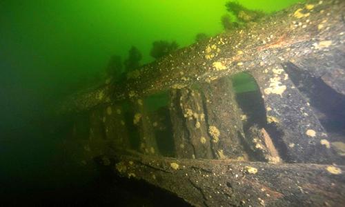 Xác tàu chiến từ thế kỷ 17 được phát hiện dưới biển Baltic. Ảnh: AFP.
