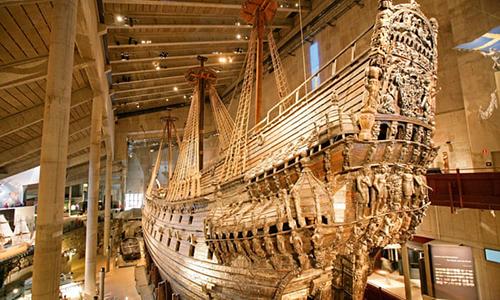 Xác tàu chiến Vasa nổi tiếng hiện được trưng bày tại Bảo tàng Vasa ở Stockholm. Ảnh: Guardian.