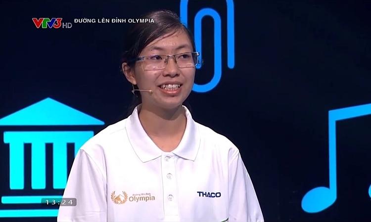 Nguyễn Thị Thu Hằng tại cuộc thi tháng, phát sóng ngày 10/11.Ảnh chụp màn hình