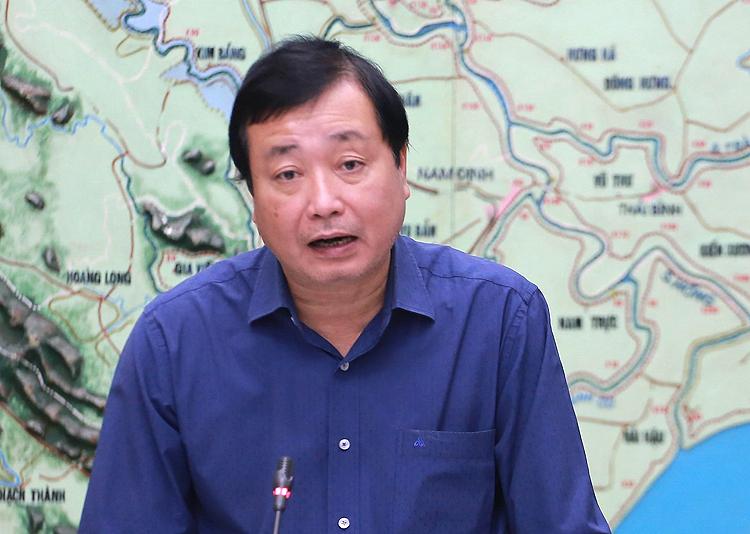 Ông Trần Quang Hoài phát biểu tại cuộc họp Ban chỉ đạo trung ương về Phòng chống thiên tai sáng 10/11. Ảnh: Võ Hải