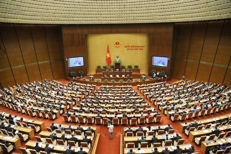 Toàn cảnh kỳ họp thứ 8, Quốc hội khoá XIV. Ảnh: Trung tâm báo chí Quốc hội