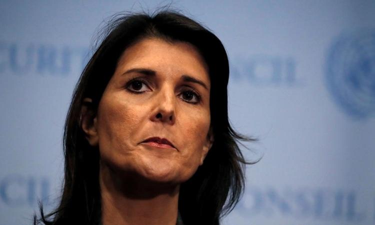 Cựu đại sứ Mỹ tại Liên Hợp Quốc Nikki Haley ở New York ngày 10/9. Ảnh: Reuters.