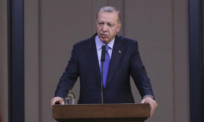 Tổng thống Thổ Nhĩ Kỳ Recep Tayyip Erdogan trả lời báo chí tại thủ đô Ankara hôm nay. Ảnh: AP.
