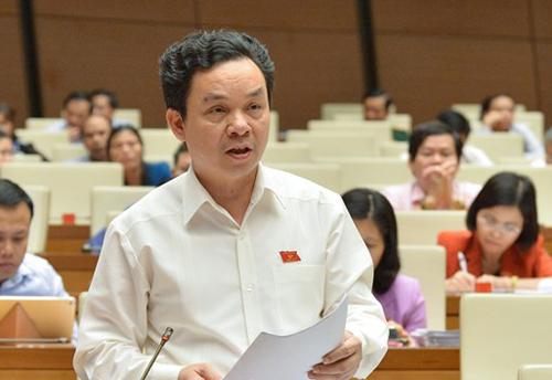 Đại biểu Hoàng Văn Cường. Ảnh: Trung tâm báo chí Quốc hội