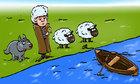 Làm sao đưa cừu qua sông mà không bị sói ăn thịt?