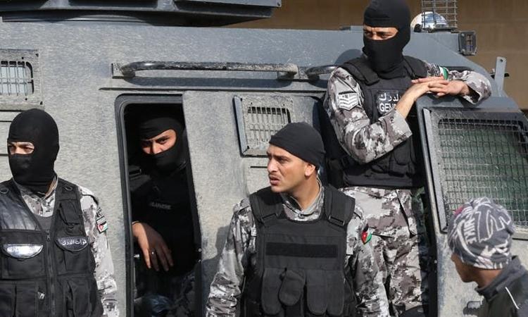 Cảnh sát vũ trang Jordan. Ảnh: AFP.