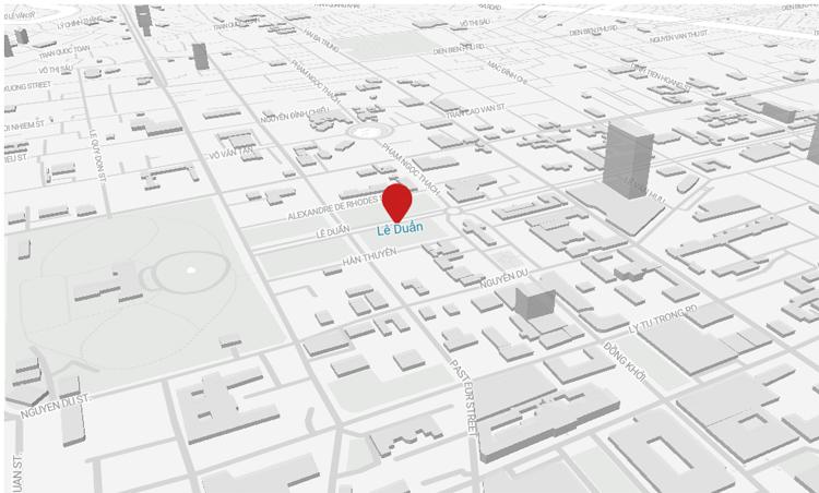 Đường Lê Duẩn ở trung tâm TP HCM. Ảnh: Datawrapper